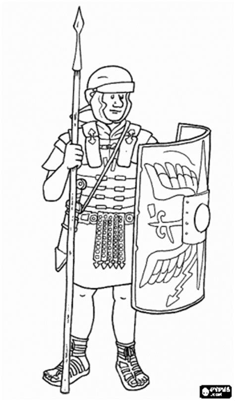 roman soldier coloring page coloring pages