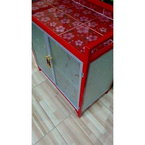 Rak Kompor Gas Aluminium rak kompor gas dan piring 2 pintu aluminium tebal