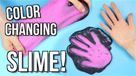how to make change colors diy slime color changing slime