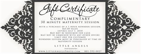 photographer promo card template free maternity session coupon hovey photography