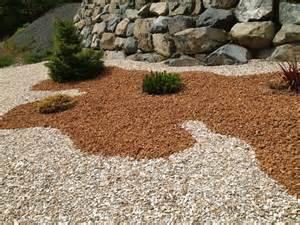 Lava Rocks For Garden Using Black Lava Rock With Brown Lava Rock Search Grass Free Yard Pinterest