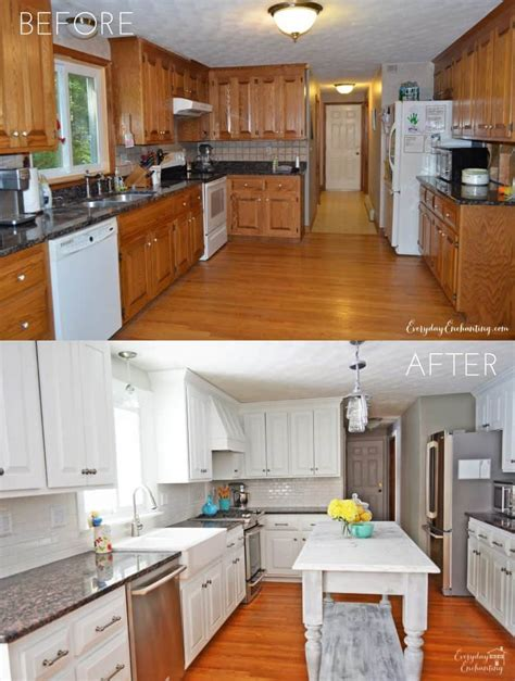 painting kitchen cabinets white before and after pictures tips tricks for painting oak cabinets evolution of style