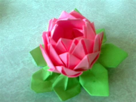 Origami Lotus Flower Pdf - origami origami flower lotus how to make a origami flower