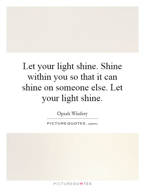 let your light shine quote like success