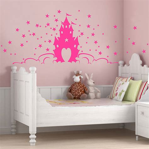 princess castle wall stickers fairytale princess castle wall stickers by parkins interiors notonthehighstreet