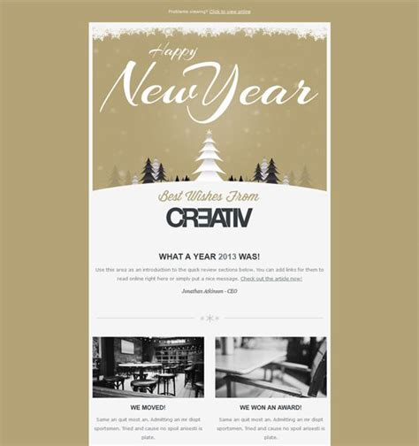 17 Best Images About More Of The Best Christmas Holiday Email Templates On Pinterest Editor Mailchimp New Year Template