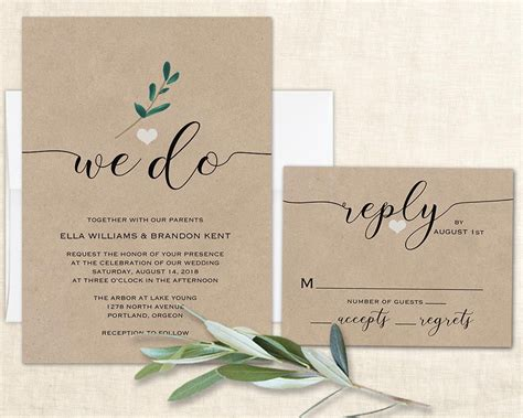 Where To Do Wedding Invitations by We Do Wedding Invitation Wedding Invite Modern Calligraphy