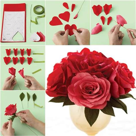How To Make Roses Out Of Paper Easy - how to diy easy crepe paper