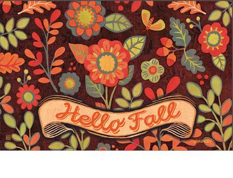 Fall Outdoor Mats Indoor Outdoor Hello Fall Matmate Doormat 18x30