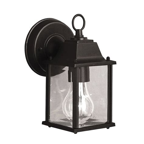 Shop Kichler Barrie 8 5 In H Black Outdoor Wall Light At Outdoor Black Light