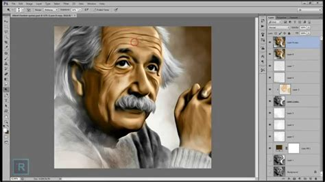 tutorial smudge painting photoshop cs3 youtube albert einstein photoshop cs6 smudge painting speedart