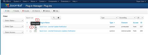 template admin panel joomla joomla 3 x how to hide joomla version update options from