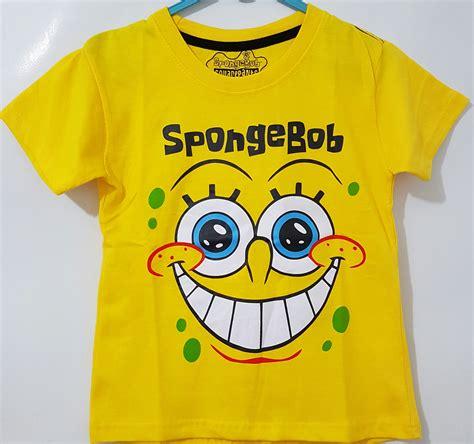 Kaos Anak Karakter Be Happy spongebob happy 7t 10t page title grosir kaos anak