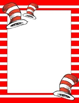 dr seuss writing paper a set of 8 suess inspired papers for writing