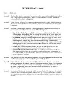 church bylaws template best photos of exles of bylaws exle of church