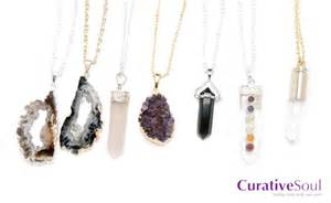 Natural Stone Vase Healing Jewelry Natural Crystal And Gemstone Necklaces
