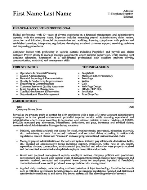 Resume Skills Trustworthy Accoutnant Resume