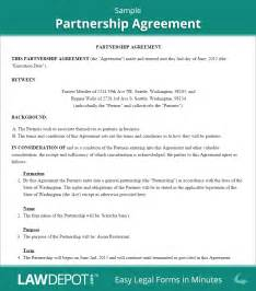 partnership agreement form partnership agreement