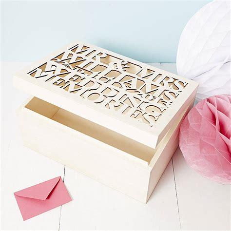 large personalised large personalised wedding gift keepsake box by