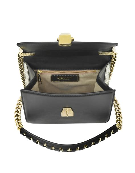 Roberto Cavalli Whipstitched Leather Purse by Lyst Roberto Cavalli Hera Ayers And Smooth Leather