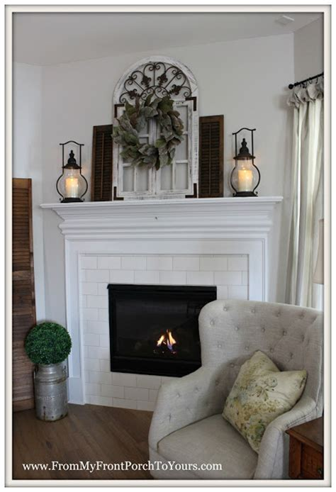 front porch   farmhouse fireplace mantel
