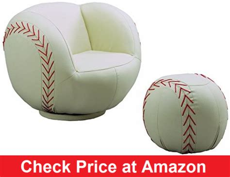 baseball glove chair and ottoman baseball furnitures baseball chair bed l rug more