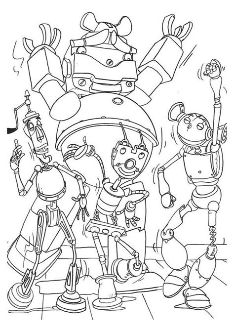 Robots Coloring Pages Coloringpages1001 Com Robot Coloring Page