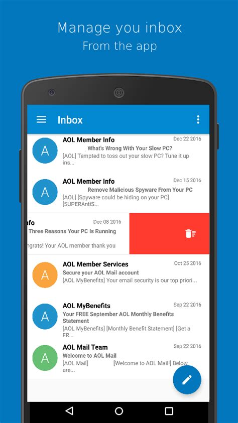 aol app for android connect for aol mail android apps on play