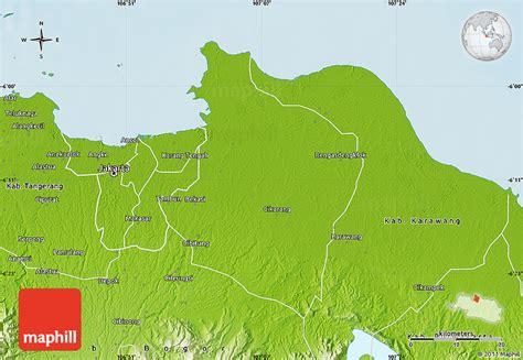 physical map  kab bekasi
