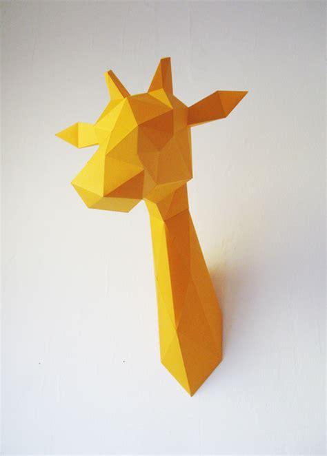Papercraft Giraffe - paper giraffe folding kit assembli