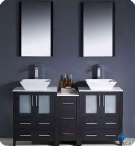 Vanities Show Fresca Torino 60 Quot Espresso Modern Sink Bathroom