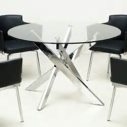 Chrome Glass Dining Table Glass Top Chrome Dining Table