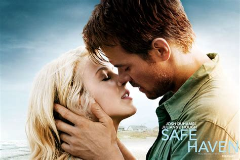 film romance recent safe haven julianne hough and josh duhamel in the rain