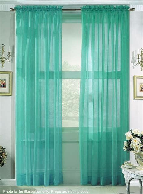 Turquoise And Green Curtains Sheer Turquoise Curtains Put Another Fabric W Pattern Home Curtains Pinterest