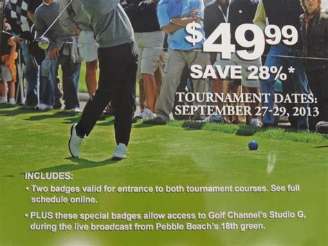 Pebble Beach Gift Card - pebble beach nature valley first tee open
