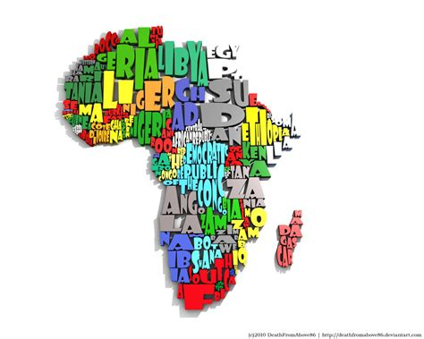 africa map 3d wallpaper africa typography map by deathfromabove86 on deviantart