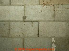 cracks in cinder block basement walls diagnose evaluate step cracks in concrete block walls