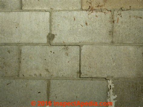 diagnose evaluate step cracks in concrete block walls