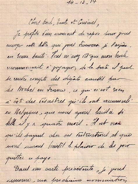 Exemple De Lettre Famille Lettre D Un Poilu 224 Sa Famille Ranger Robert Soldat Du 32 232 Me De Versailles 1 4 La