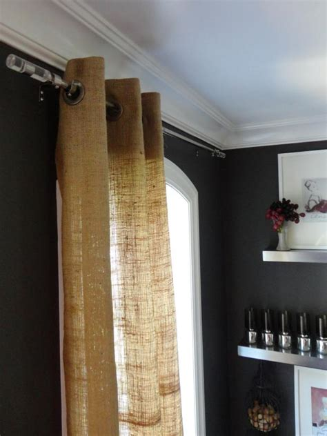 burlap grommet curtains burlap curtains are an affordable way to get a designer