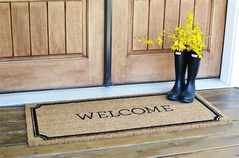 Front Door Welcome Mat Front Porch Decor Sweet Threads Design Co