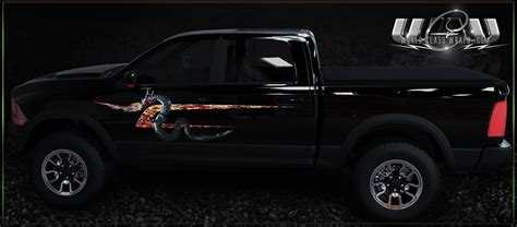 ram truck graphics truck tailgate flames graphics