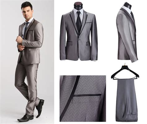 Blazer Pria Korean Style Navy Blue 2018 s fashion suit casual wedding suits mens fitted
