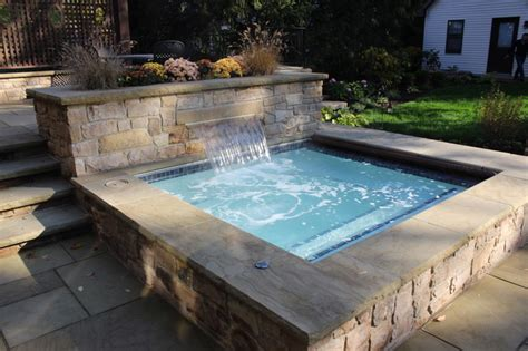 outdoor spa traditional pool cleveland by exscape