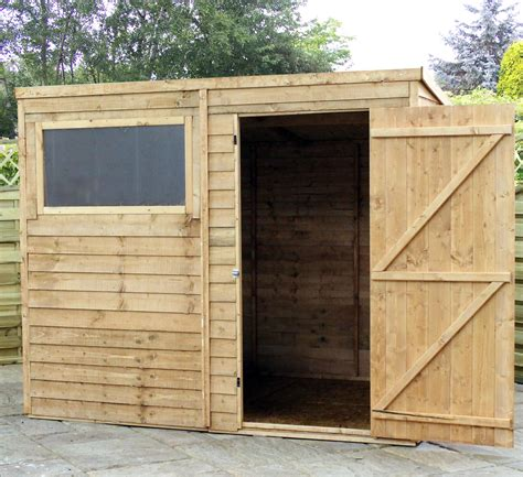 Garden Sheds Cambridge by 8 X 6 Cambridge Overlap Pent Shed With Single Door 1 Window Solid 10mm Osb Floor Shedsfirst