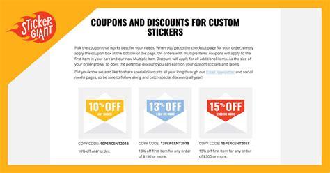 Sticker Coupon Code