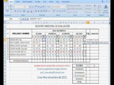 Elaboracion De Un Registro Automatico En Excel Parte 2 | elaboracion de un registro automatico en excel parte 2
