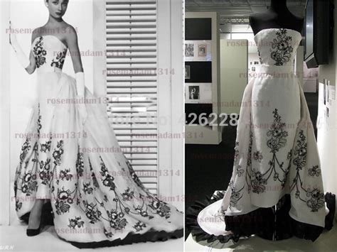 Promo Gs Sabrina Dress real sle hepburn classic wedding dress in sabrina a line strapless embroidery