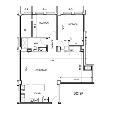 Studio Apt Furniture floor plan 2d mke lofts apartments
