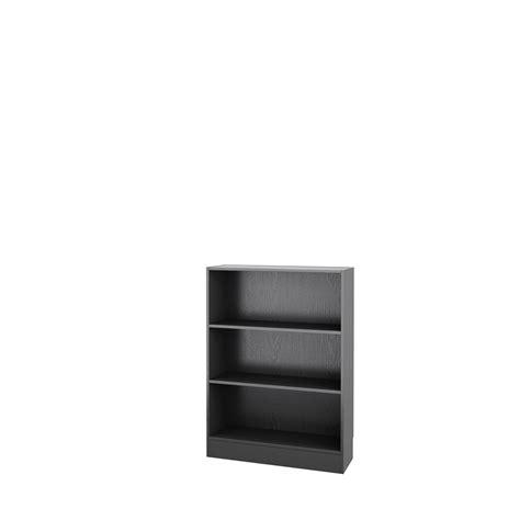 Wide Black Bookshelf Tvilum Basic Wide 3 Shelf Bookcase Black Wood Grain